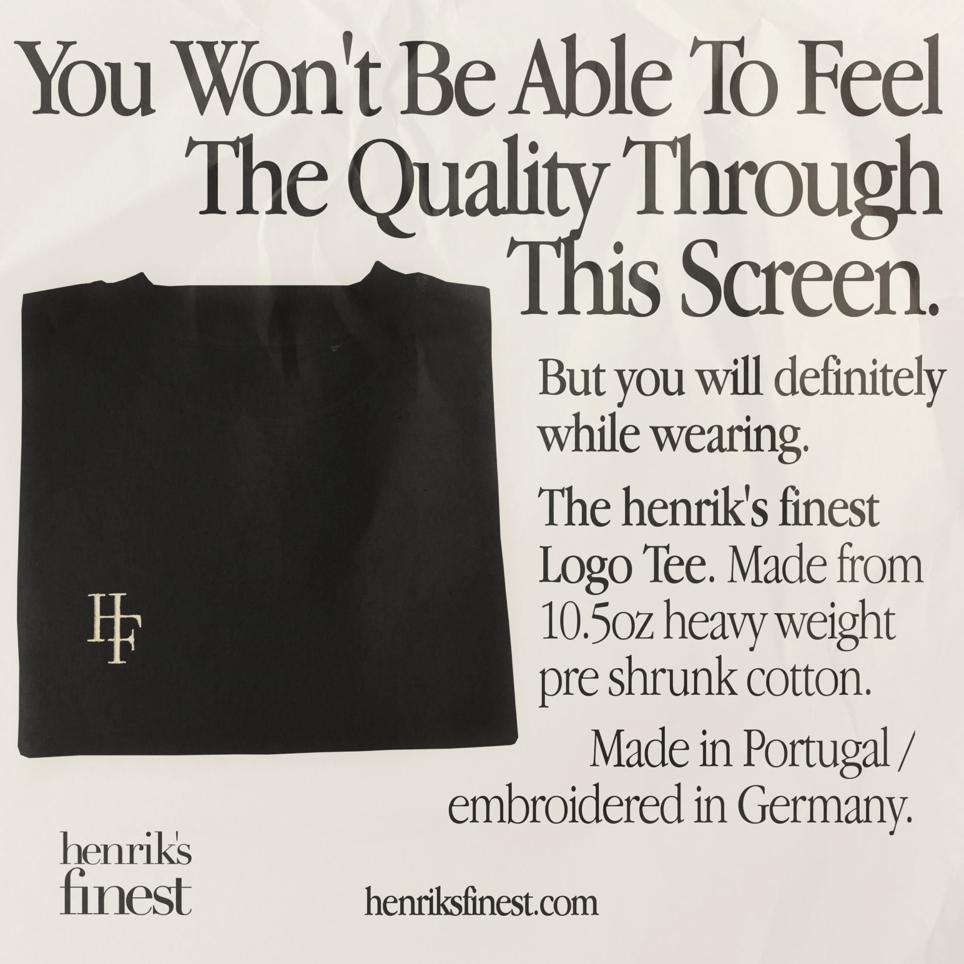 henrik's finest – Logo Tee (black/cream)