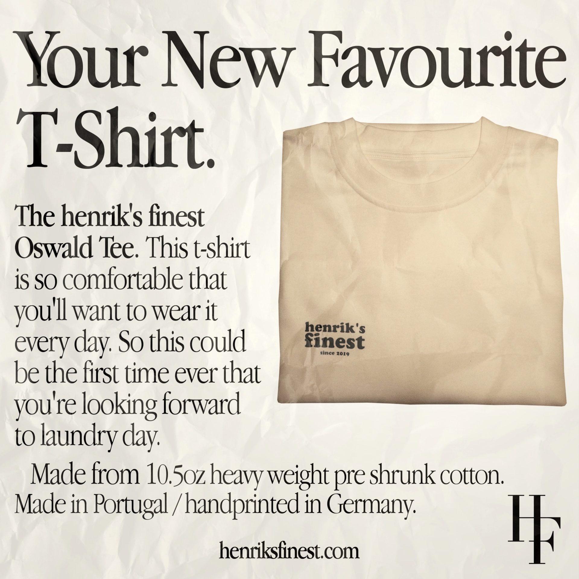 henrik's finest – Oswald Tee (vanilla/forest)